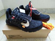 Nike Off White Air Presto Black AA3830-002 US 8 EU 41 nuove originali