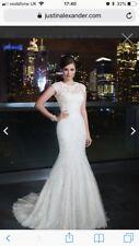 Justin Alexander Venetian Lace Wedding Dress 9721