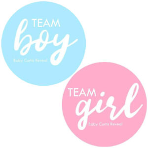 Team Boy, Team Girl Baby Shower Reveal Circle Celebration New Baby Party Favours