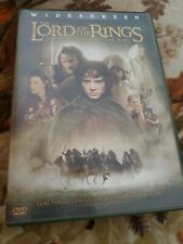 The lord of the rings the fellowship of the ring widescreen Dvd