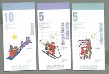 CANADA 1996 Set of Three (3) Booklets - CHRISTMAS (F/v = $11.60) - Complete MNH