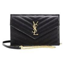 Saint Laurent Chain Wallet Small Black Leather Cross Body Bag