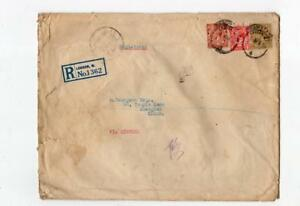 GB - LONDON: 1930 Registered cover to China (C37207)