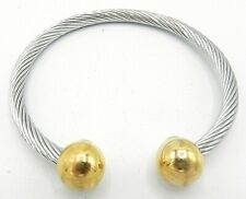 Small Cable Bracelet Two Tone B337