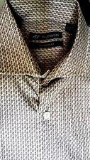 Alan Flusser Platinum100% Cotton Paisley Shirt Spread Collar Medium NWT