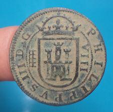 pirate treasure 1607 philip III 8 maravedis spanish colonial cob spain 1-4-3-4