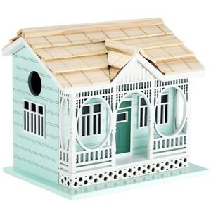 NEW! OUTDOOR HAND MADE BIRDHOUSE - BIRD COTTAGE PERCH - SAVANNAH COTTAGE