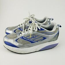 Fila sculpt and tone tennis shoes 9 blue silver walk athletic fitness exercise