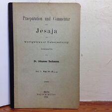 Praeparation und Commentar Jesaja Johannes Bachmann Heft 3 Kap. 13-19