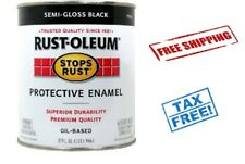 Rust Oleum Black Paint Coating Truck Bed Liner Brush Protect Scratch 32 oz New