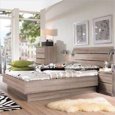 Truffle Brown Full Size Platform Bed Frame Curved Slat Headboard Home Furniture