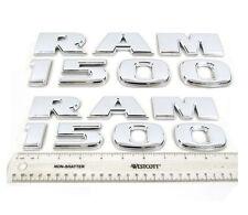 2X NEW 3D Dodge Ram 1500 Chrome Lettering Fender Decal Nameplate Emblem Badge