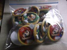 2013 Nintendo 14 Super Mario Bros Luigi Cupcake Rings Party Favors