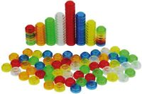Translucent Stackable Counters Plastic Pack 60 Math Resource and light table