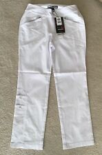 NWT Jamie Sadock Women's Golf Long Pull Up Pants Size 18 Color Sugar (white)