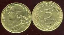 5 centimes 1992   MARIANNE    3 plis