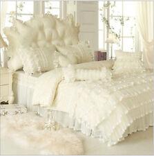 Luxury Lace bedding sets cotton Wedding bedding set bedroom gift Duvet cover set