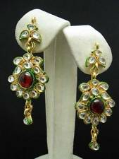 INDIAN Gold Tone KUNDAN Earrings BOLLYWOOD Fashion Jewellery Belly Dance AUDPOST