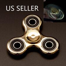 Highlight Hand Finger Spinner Fidget Tri-Spinner 3D EDC Focus Toy Gold
