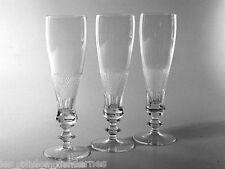 THERESIENTHAL 30er Jahre Glas ° 3 Sektgläser ° Kristallglas ° Schliffglas