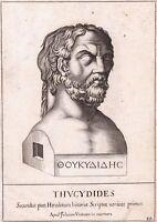 Portrait XVIIe Thucydide Θουκυδίδης Grèce Greece Thucydides Histoire History
