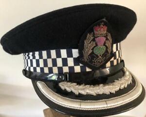 British BOROUGH COMMANDER POLICE VISOR  CAP-SPECIAL Scottish
