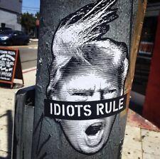 "Bottom of the Pyramid Trump ""Idiots Rule"" Sticker BOTP NIN Nine Inch Nails"