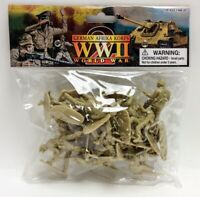 World War II German Afrika Korps Infantry Bagged Playset - 20 Tan Soldiers 1/...