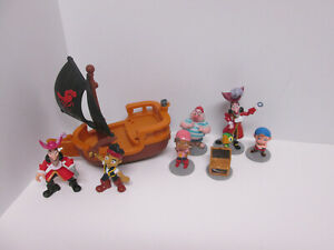 Imaginext Jake and the Neverland Pirates Small Pirate Ship & Figures Lot