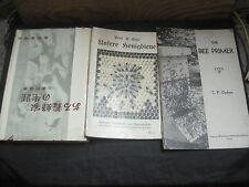 LOT DE 3 LIVRES D'APICULTURE: 1 JAPONAIS/1 AMERICAIN/ 1 ALLEMAND