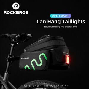 ROCKBROS Bike Rear Rack Bag Waterproof Seat Bag Road MTB Bicycle Saddle Bags