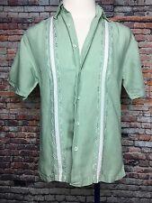 Men's Cubavera Button Down Short Sleeve Shirt Small S