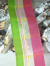 SALE 50 %, 10 Meter, Band,Geschenkband, Grün Pink,Taft Satin,Drahtkante, 40 mm