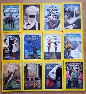 National Geographic 1979 english komplett Sammlung 1-12 Zeitschrift Hefte maps