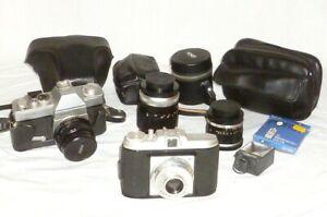 Vecchio Videocamera Porst Reflex C-Tl Fotocamera Reflex Obiettivo