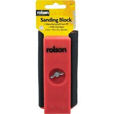 Sanding Block Mini Sanding Block by Rolson Tools includes sandpaper attached