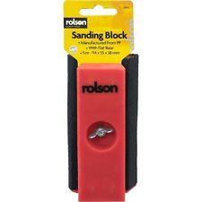 MINI blocco di levigatura blocco di levigatura mediante gli strumenti Rolson include carta vetrata associato