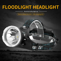 BORUiT  L2 LED Micro USB Headlamp 18650 Waterproof Head Torch Lamp Spot Light