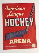1953 Providence Reds vs St Louis Flyers Hockey Program American League Arena