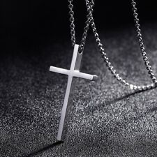 Necklace for Men Women Titanium Steel Cross Pendant