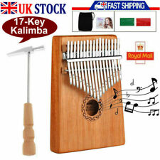 More details for 17-key kalimba thumb piano tuner hammer woodenmahogany finger musical instrument