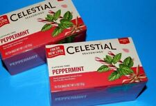 2 PACK New Celestial Seasonings Peppermint Herbal Tea Bags