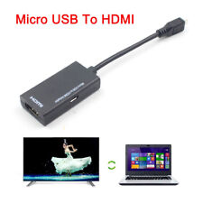 MHL Micro USB to HDMI A A/V TV Adapter Short Cable for LG HTC Sony SamSung HDTV