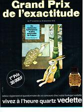 Publicité Advertising 038 1978   Montre Vedette  Grand Prix  Exactitude