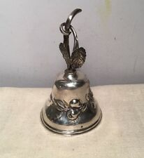 Dutch Antique Sterling Silver Large Floral Vine Branch Dinner Bell