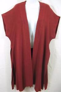 TIENDA HO~Cinnamon~MOROCCAN COTTON~Lobano Kimono Duster Vest~QUILTED~OS