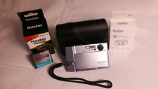 SONY CyberShot DSC-T50 7.2MP Digital Camera Silver USED New charger and battery