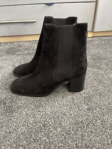 Womens ASOS Suede Ankle Boots Uk Size 8