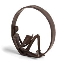 Danya B Encircled Reader Iron Sculpture - ZI15683