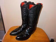 Men's OLD WEST SCM 7010 Black Leather Western Cowboy Boots Size 9.5D